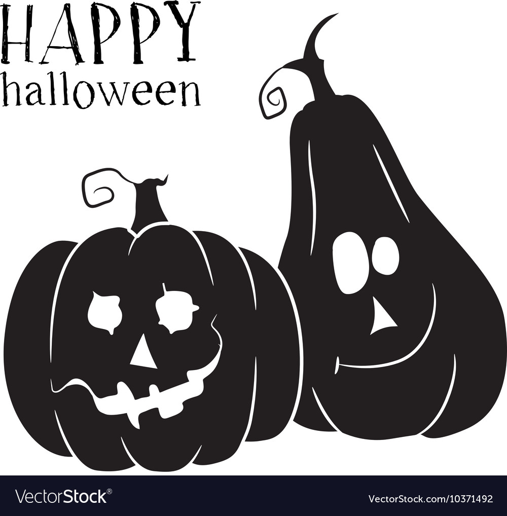 Uncategorized Halloween Symbol two pumpkins smile halloween symbol royalty free vector image