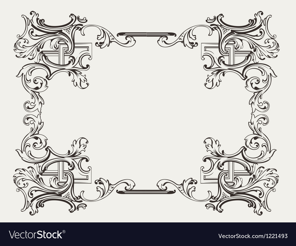 Original Renaissance Ornate Frame vector image