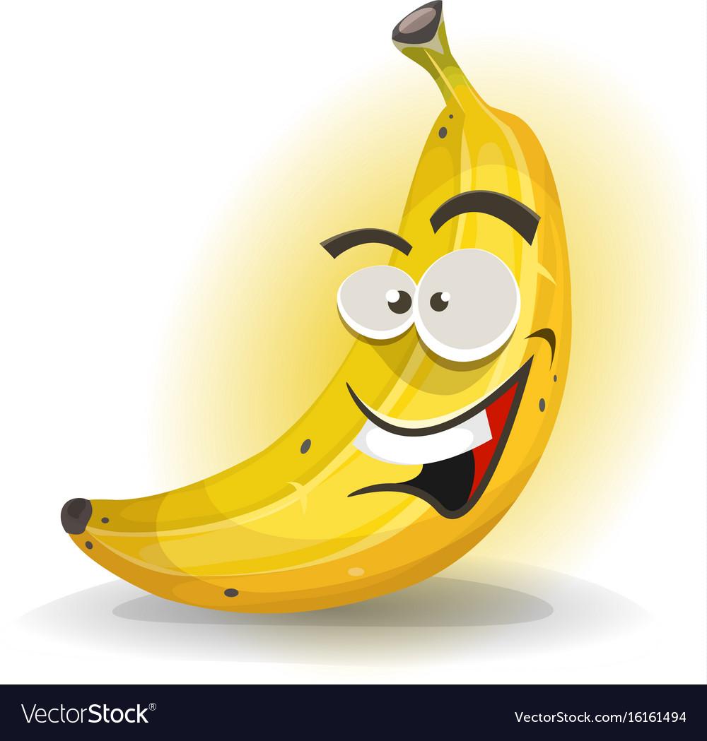Banana fruit character vector image