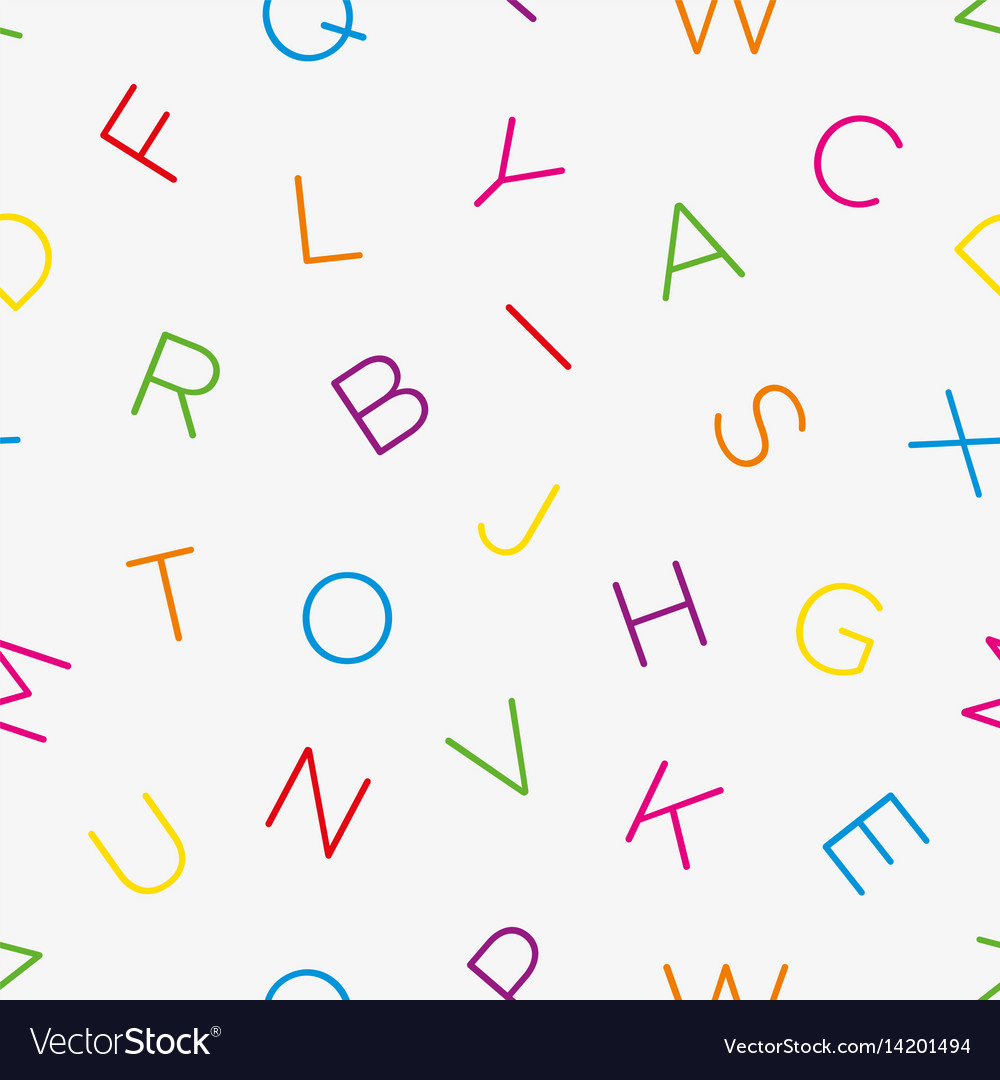 Colorful alphabet seamless wallpaper pattern vector image