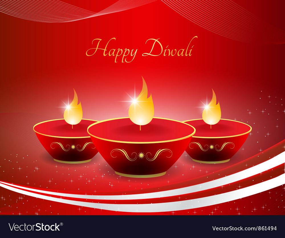 Diwali greeting card royalty free vector image diwali greeting card vector image m4hsunfo Images