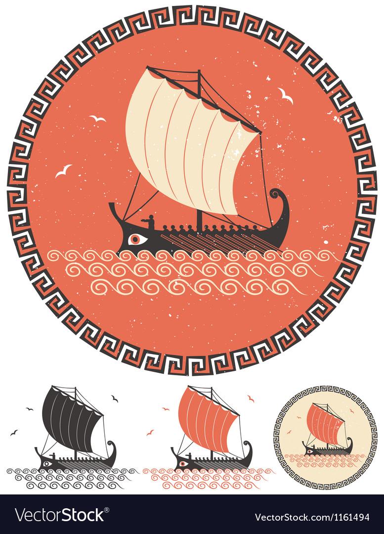 Greek Ship vector image