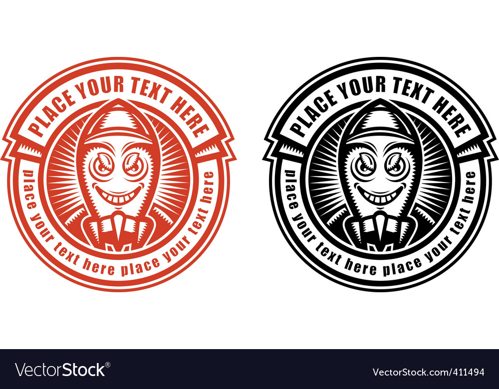 Label template vector image