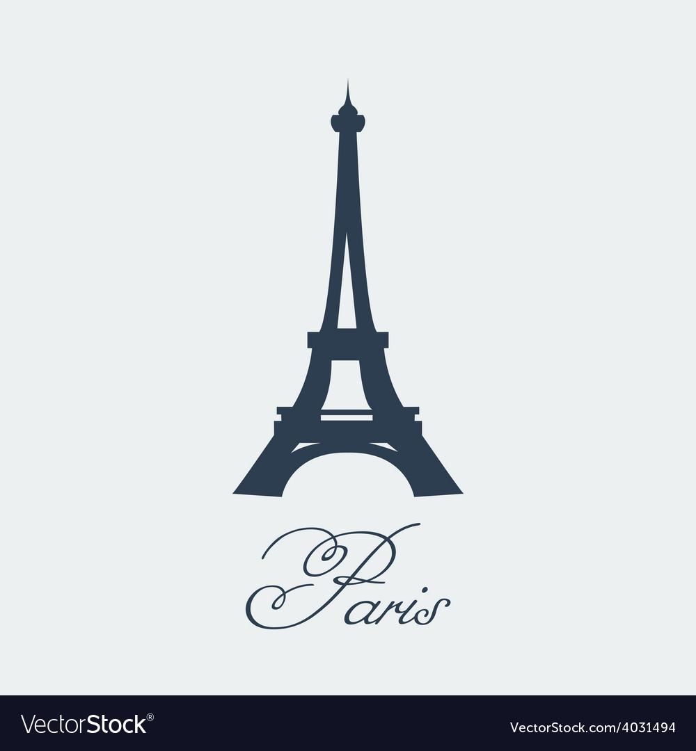 Paris Eiffel Tower vector image