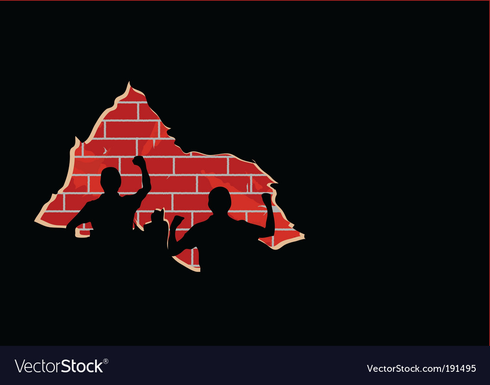 Hole in a wall vector image