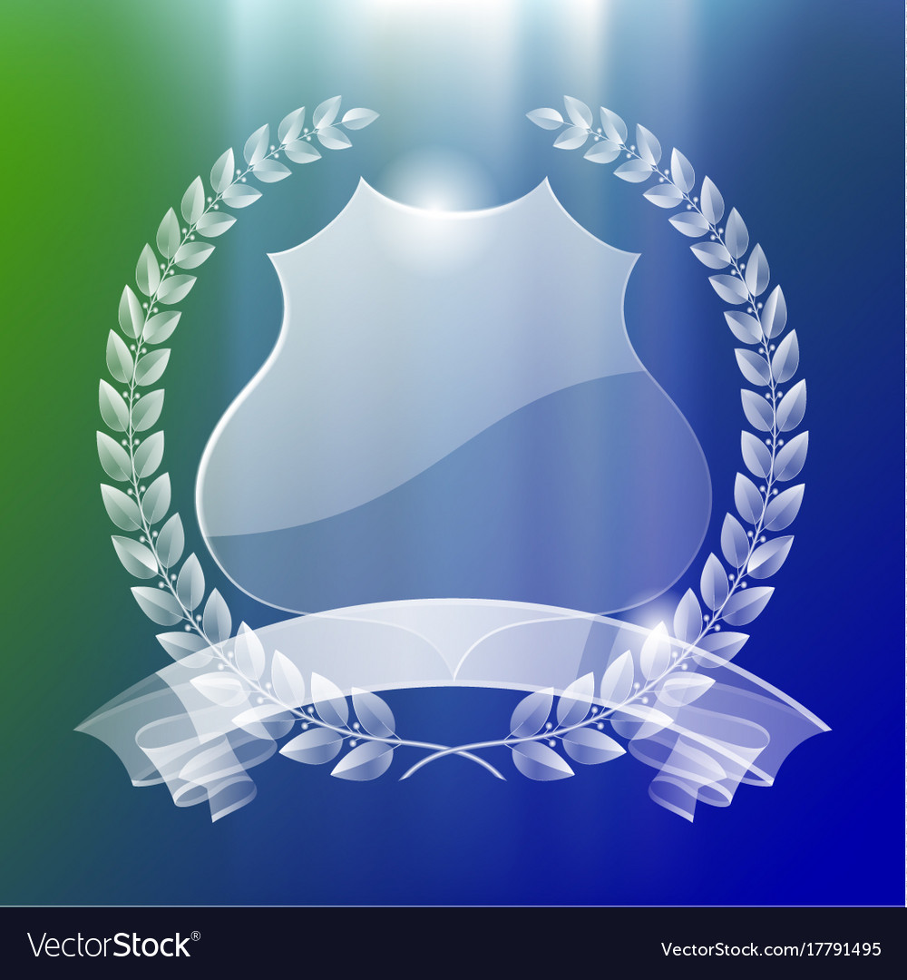 Transparent badge vector image