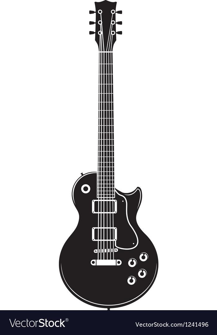 Old rock guitar vector image
