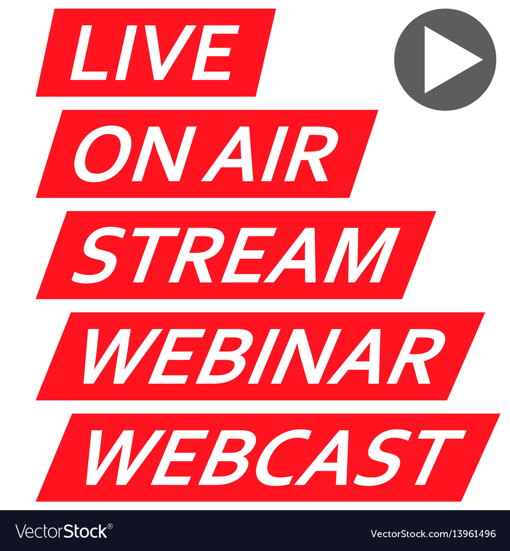 Set of icons banners for streaming live internet vector image