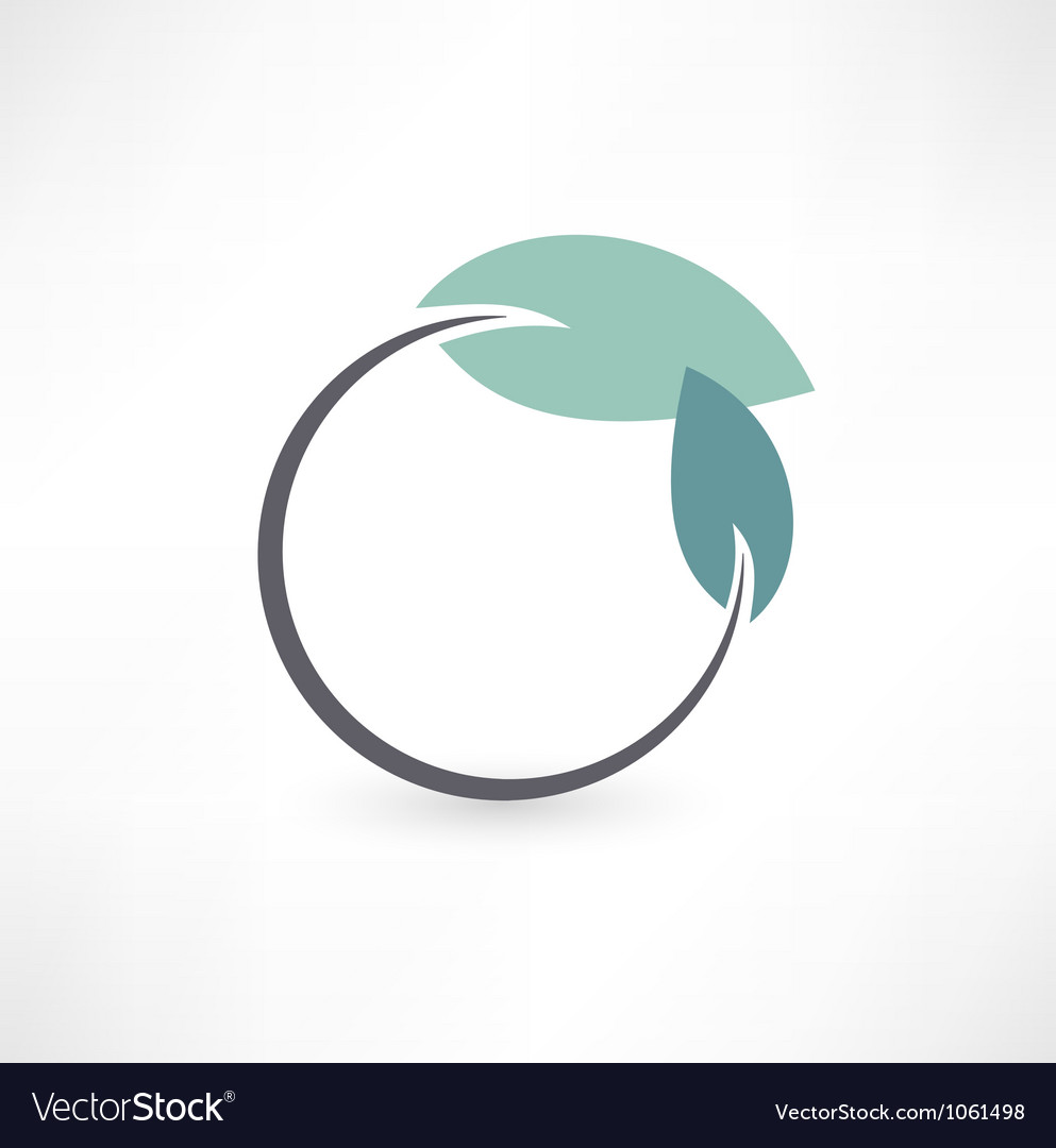 Eco symbols with leaf vector image