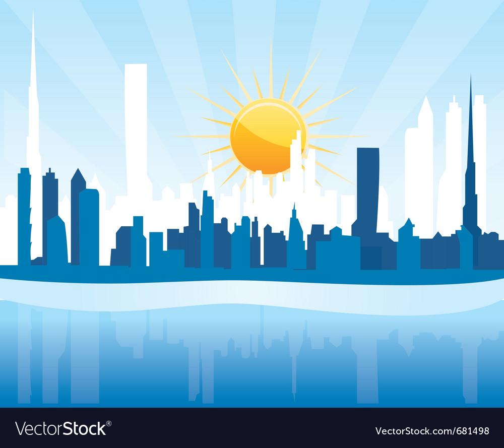 Cityscape dubai vector image