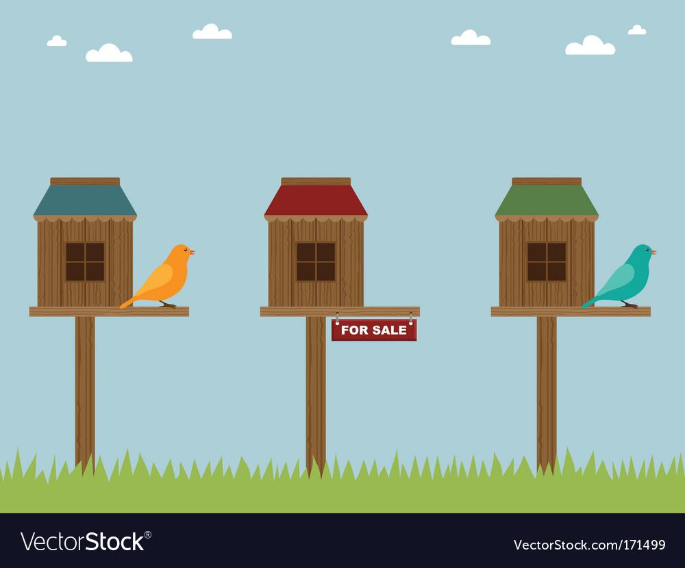 Bird house sale vector image