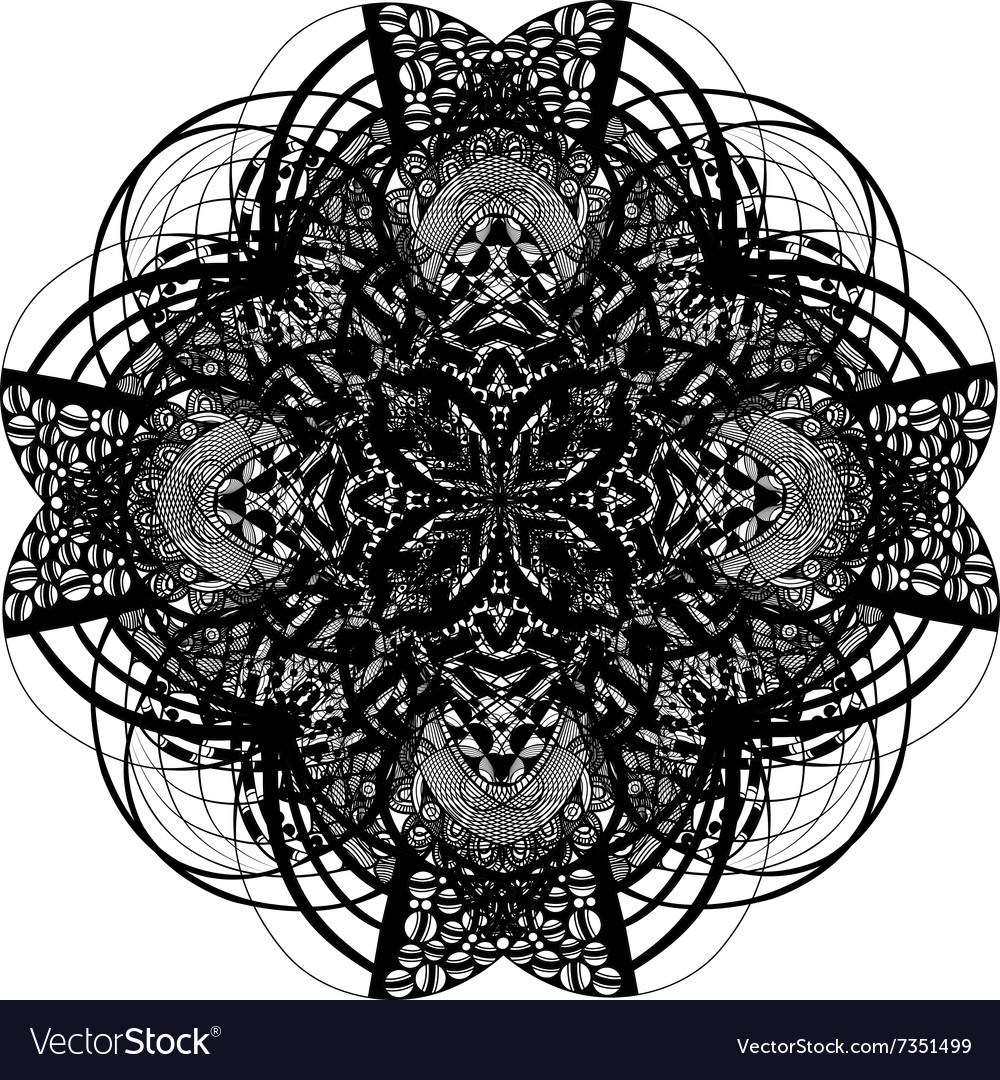 Celtic and irish knot ornamental cross vector image