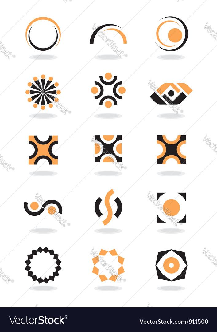 Corporate design element vector image