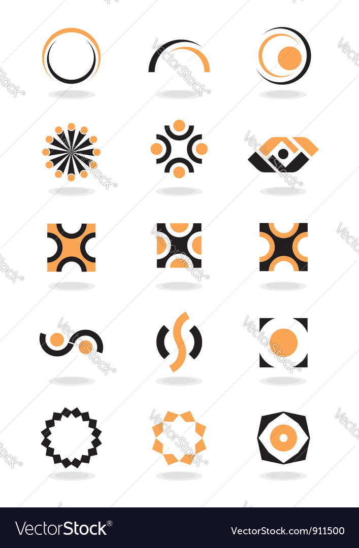 Corporate design element vector image