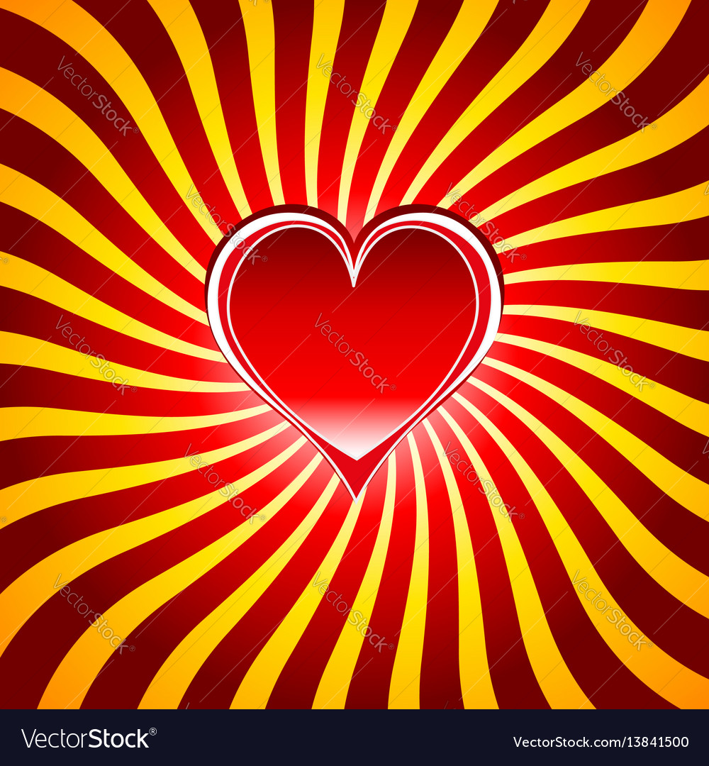 Red heart symbols the sign of love and valentines vector image buycottarizona Gallery