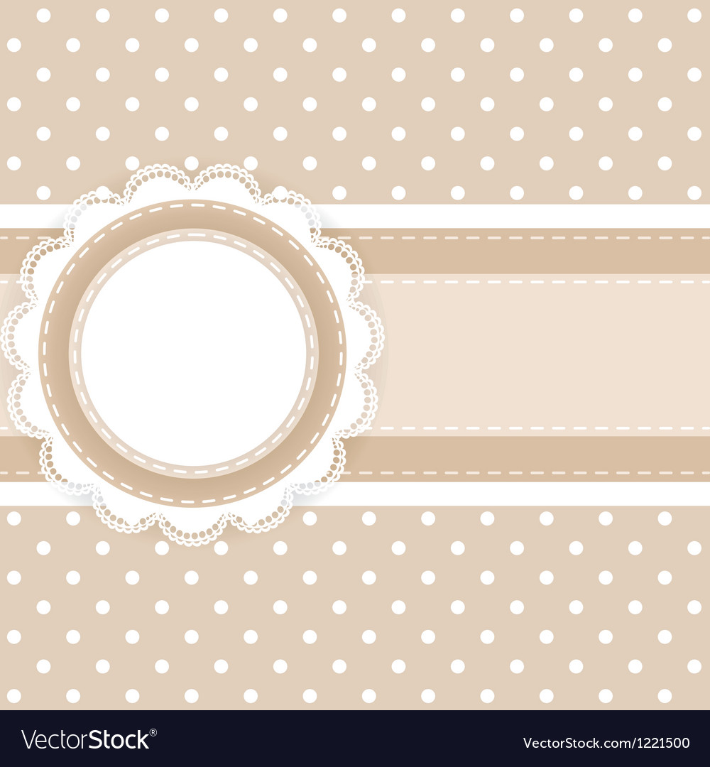 Scrapbooking card vector image