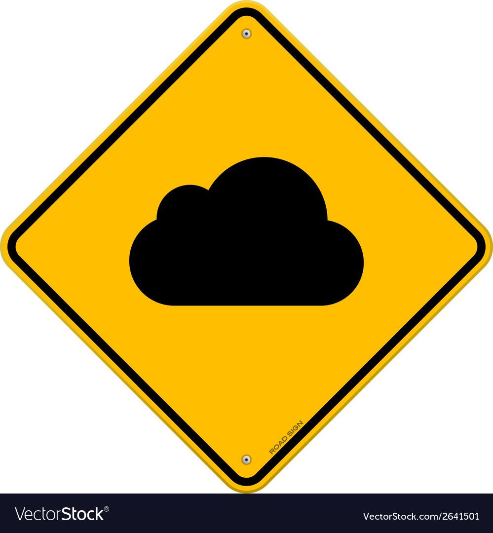 Cloud Road Sign vector image