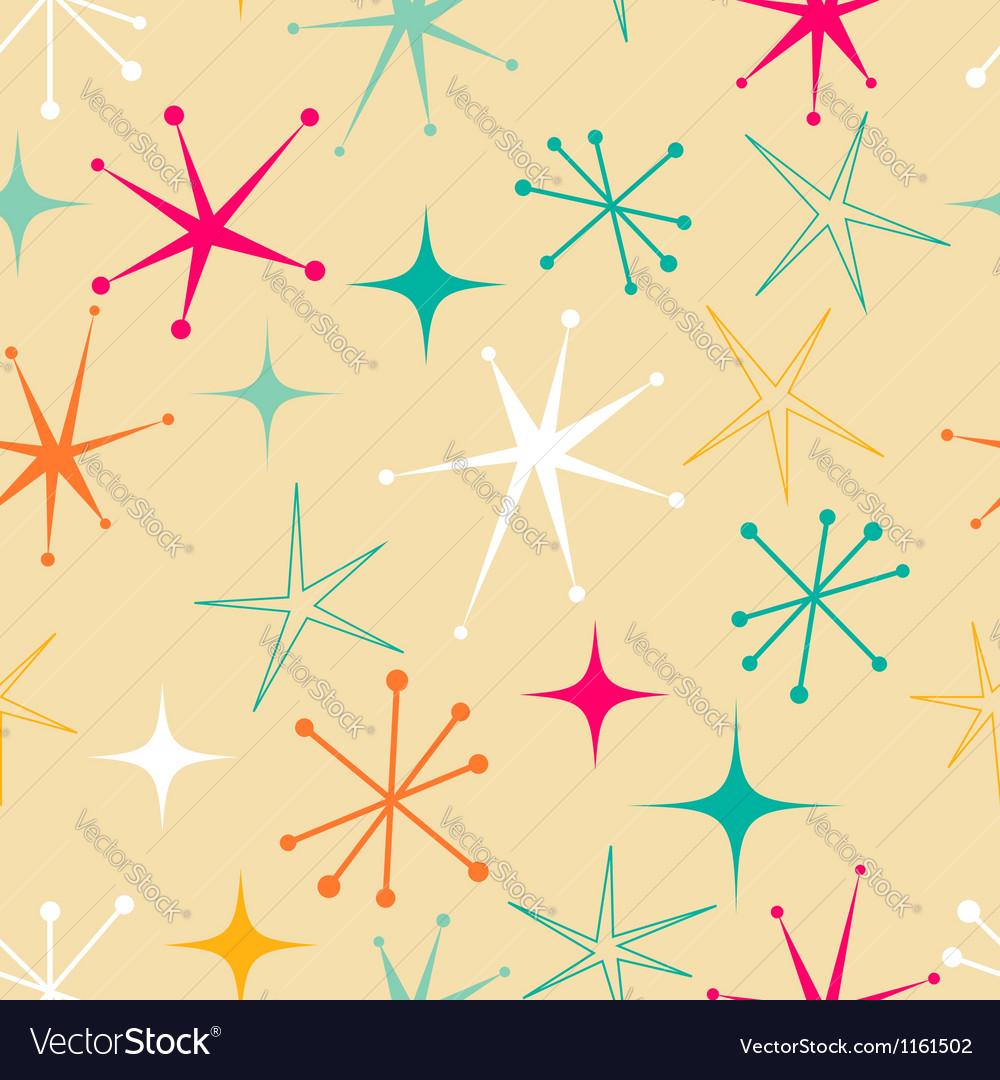 Retro starry pattern vector image