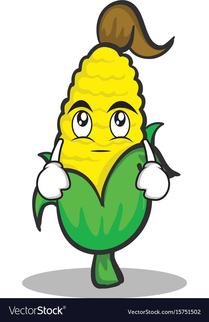 Eye roll sweet corn character cartoon vector image
