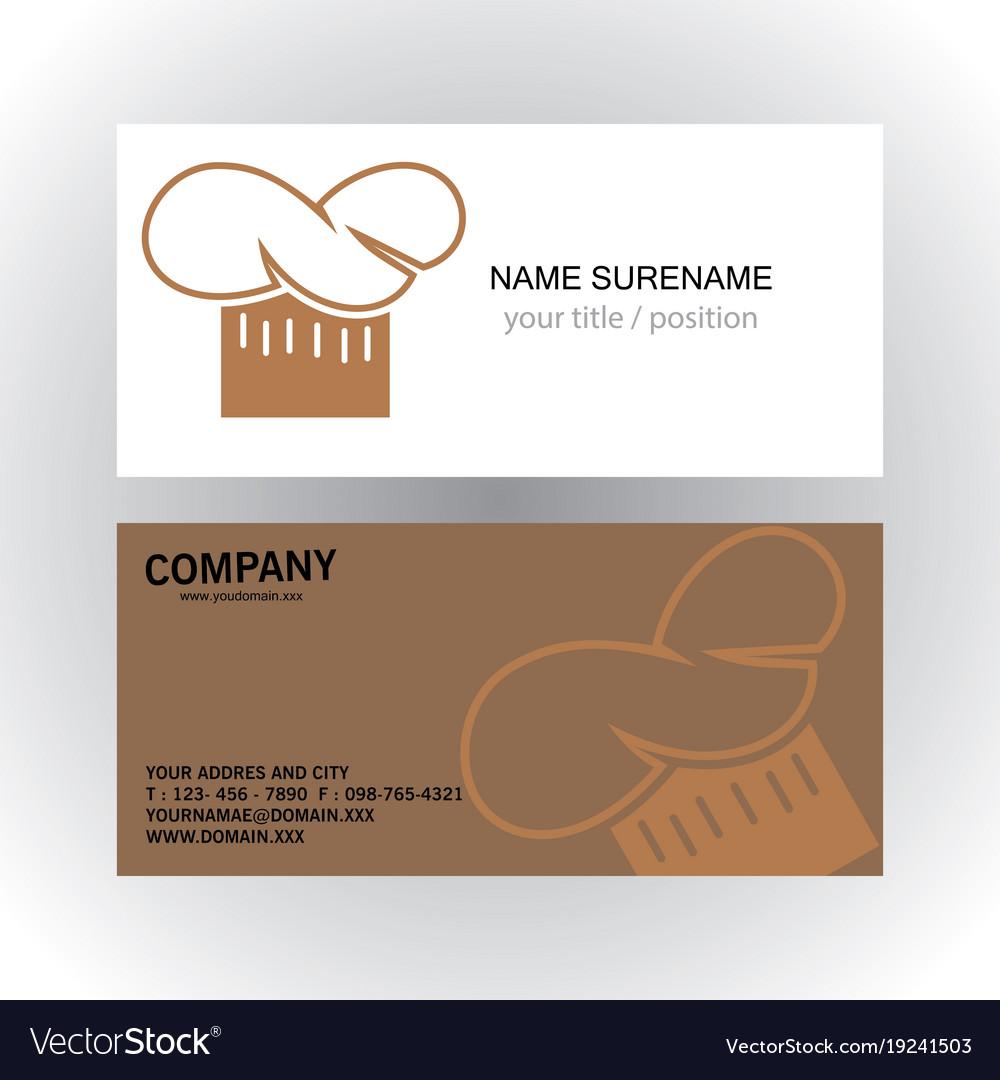 Head cook creative logo business card Royalty Free Vector