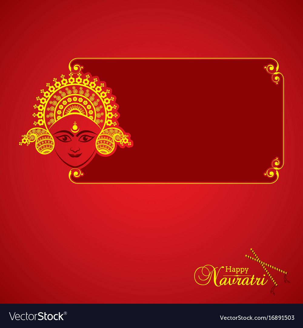 Navratri utsav greeting card royalty free vector image navratri utsav greeting card vector image kristyandbryce Choice Image