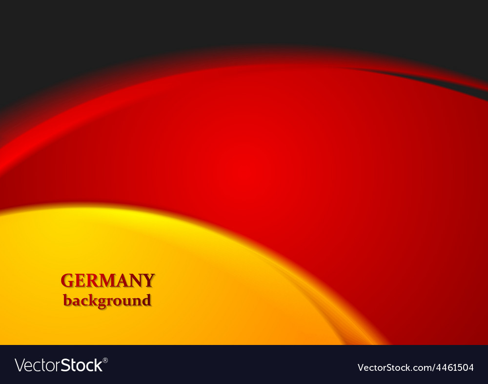 Bright wavy abstract background German colors vector image