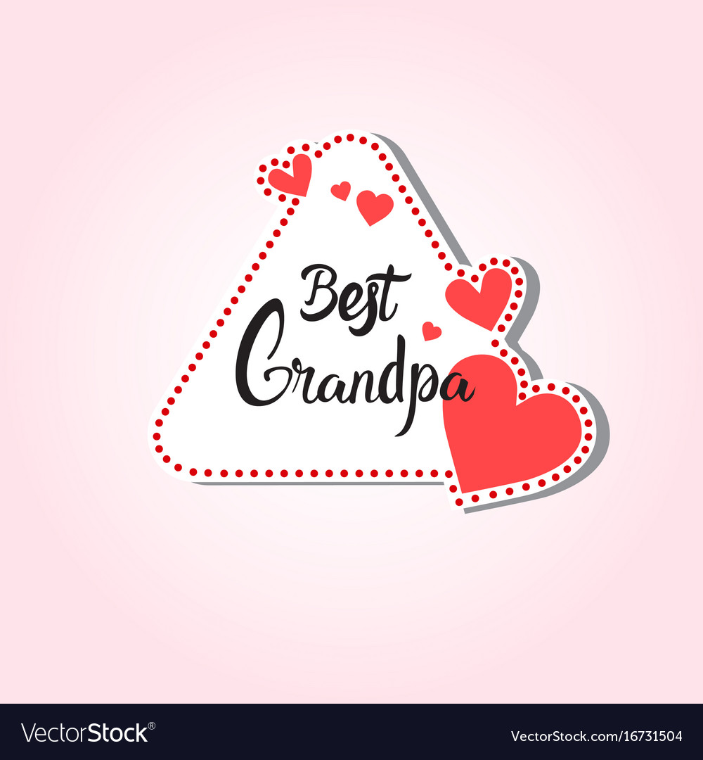 Happy grandparents day greeting card sticker vector image kristyandbryce Choice Image