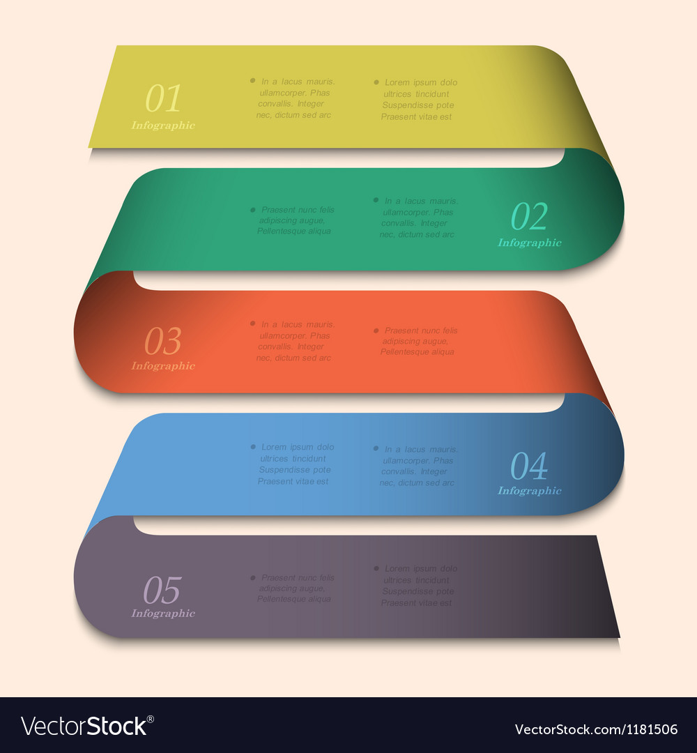 Trendy banner design for infographics vector image