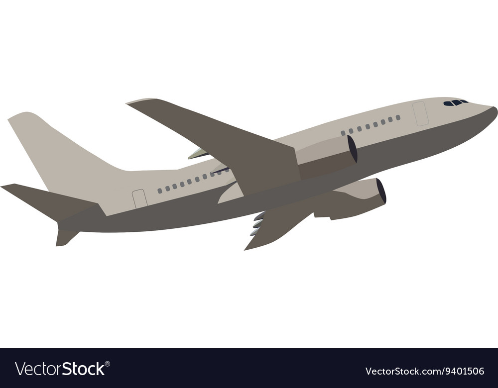 Transport airplane vector image