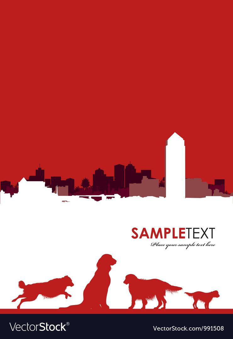 Dog cityscape background vector image