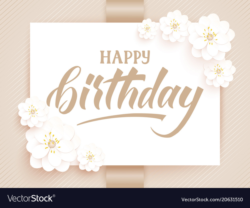 Happy Birthday Design Vector ~ Elegant happy birthday card royalty free vector image