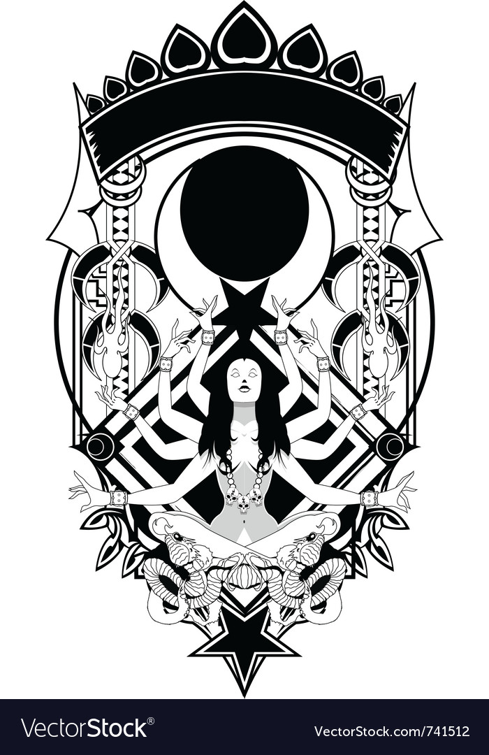 Bangas goddess vector image