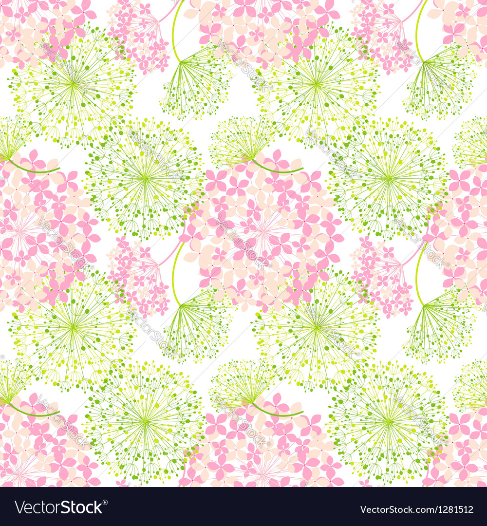 Springtime Colorful Flower Seamless Pattern vector image