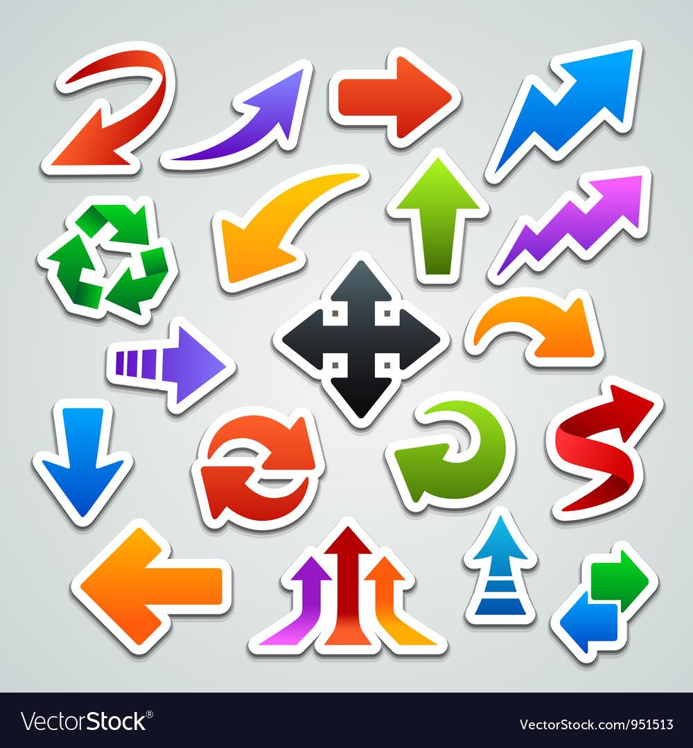 Arrow stickers vector image