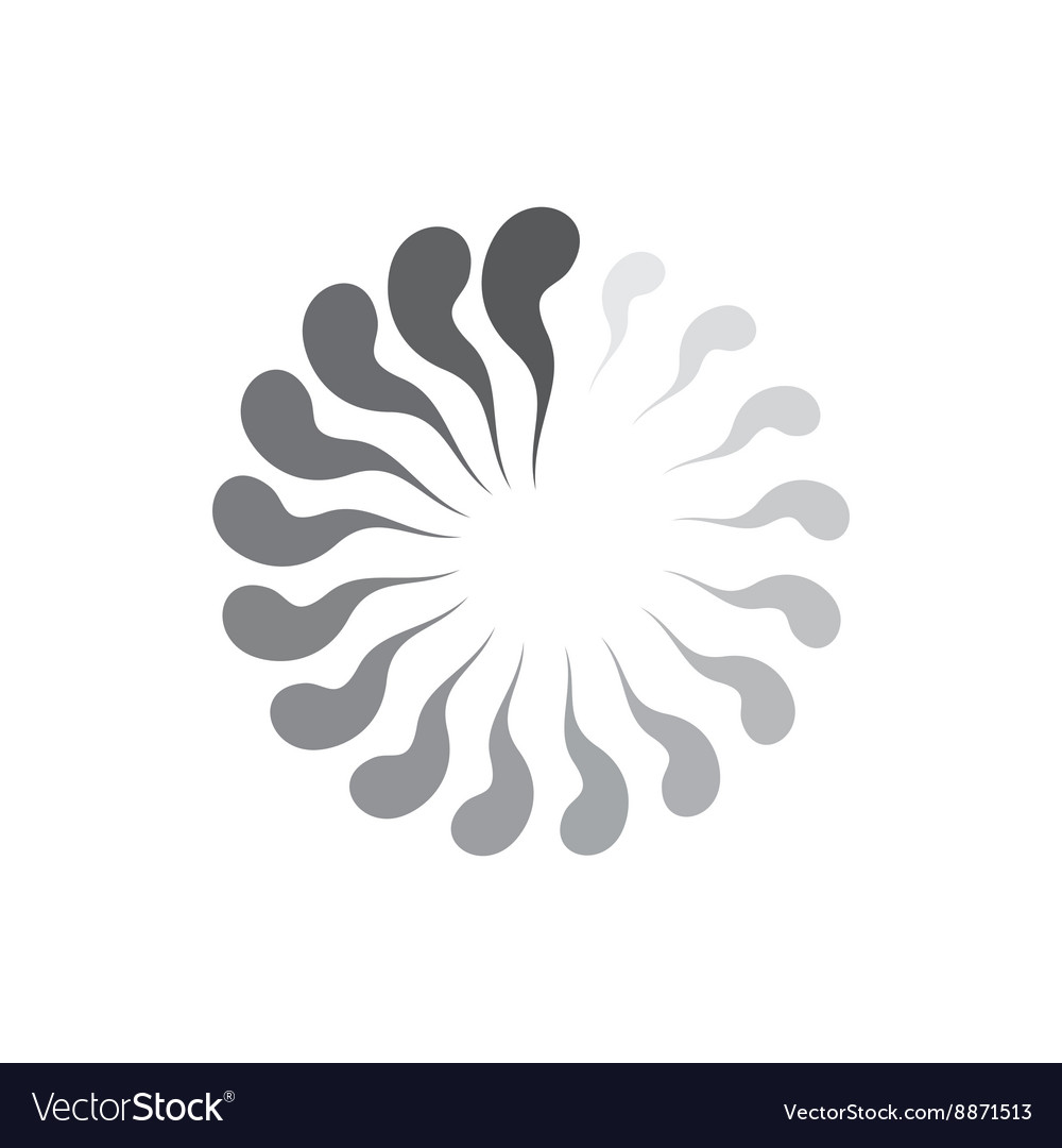 Geometric circle of abstract waves icon vector image
