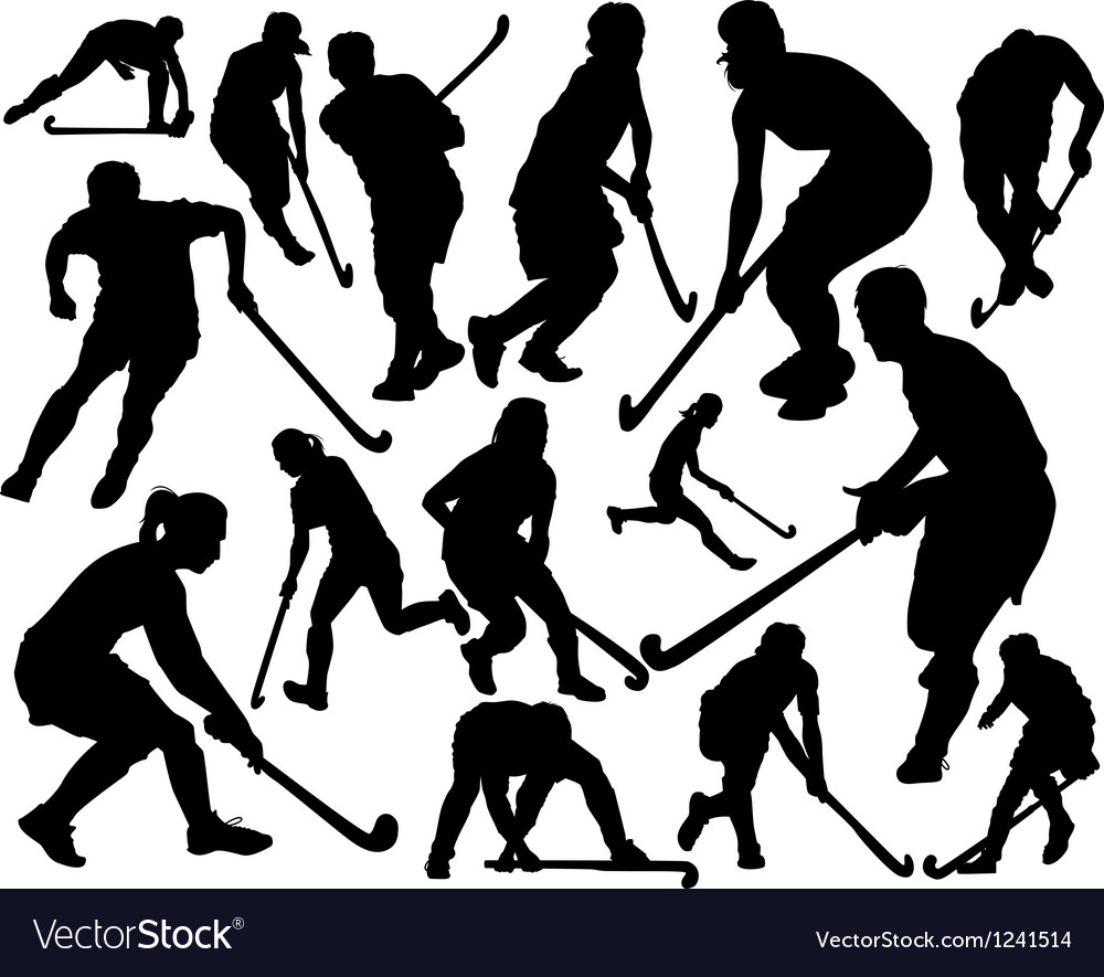 Field hockey vector image