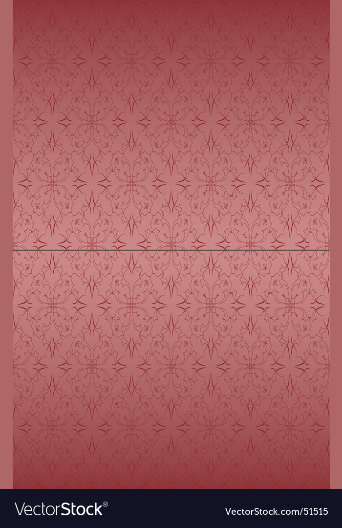 Rose ornate pattern vector image
