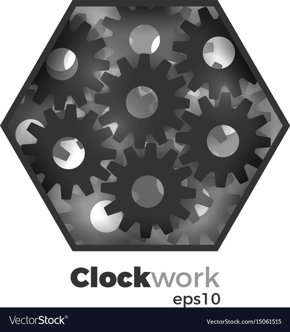 Clockwork concept vector image