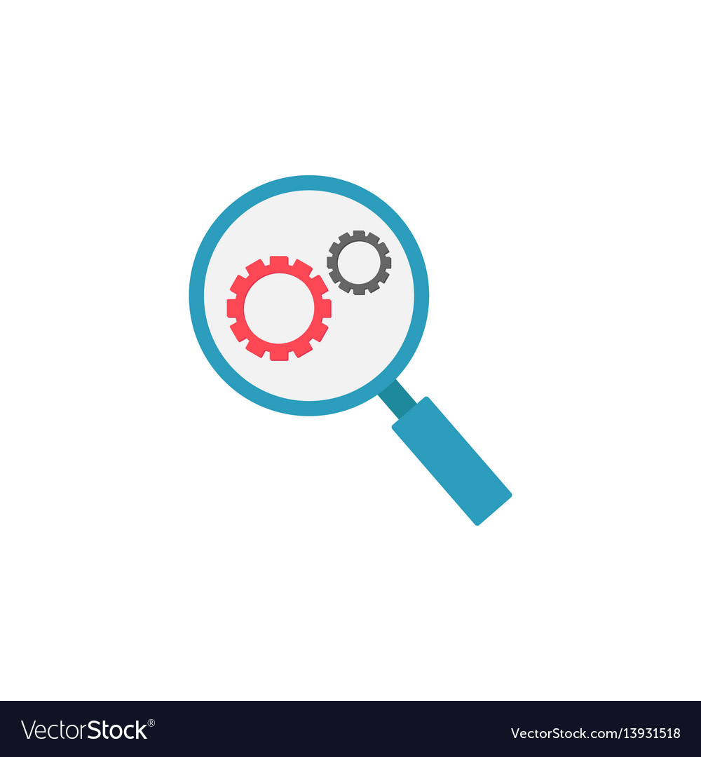 Research optimization flat icon vector image