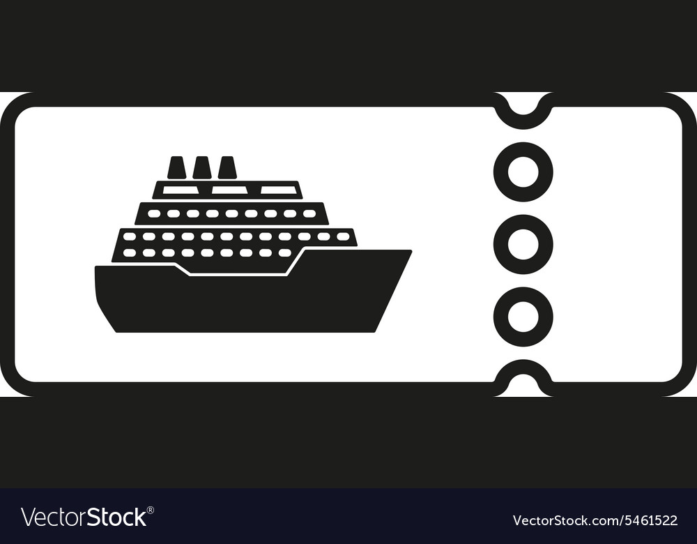 The Cruise Ship Tickets Icon Travel Symbol Vector Image - How much is a cruise ship ticket