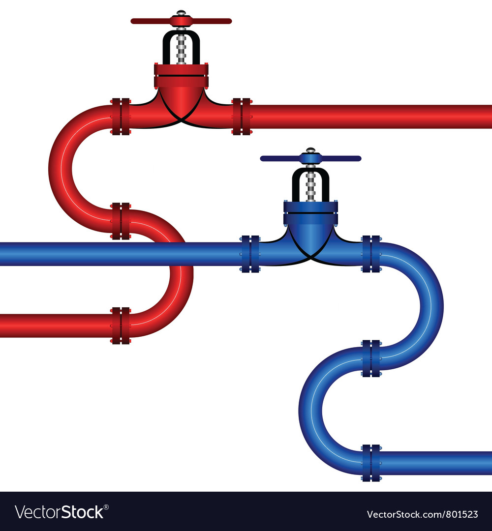 Different pipelines vector image