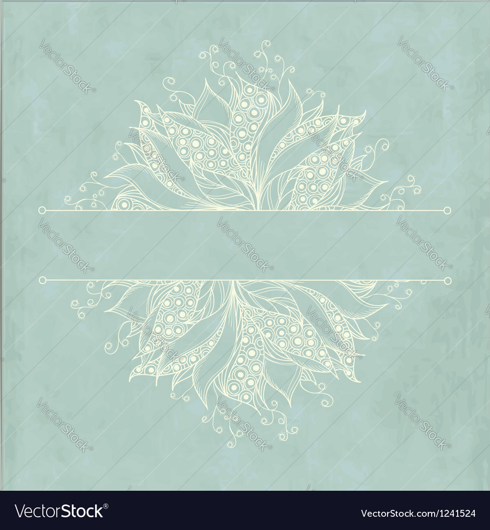 Vintage card with fantasy flower vector image