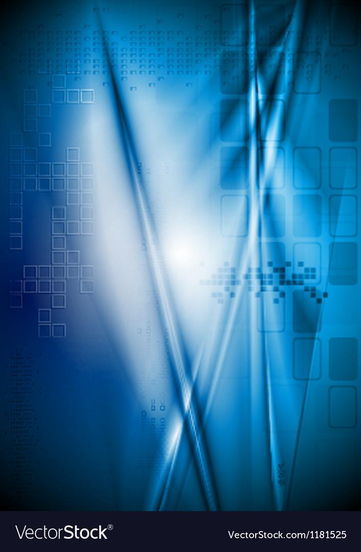 Bright blue backdrop vector image