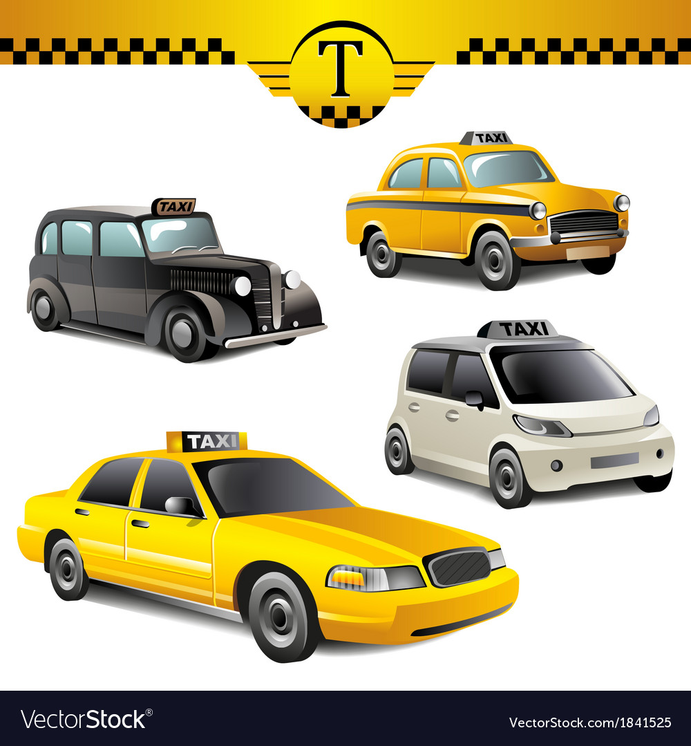 Taxi cars vector image