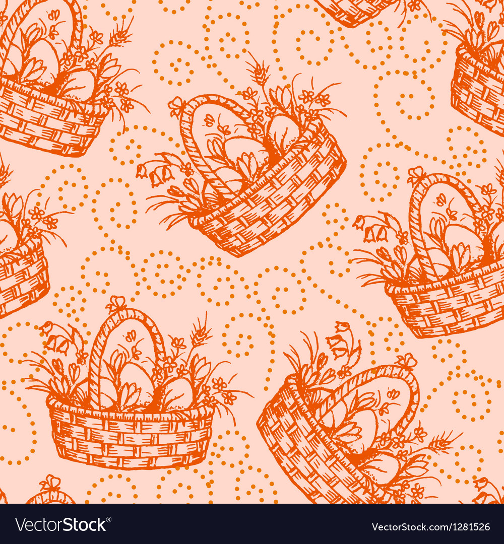 Easter seamless pettern vector image