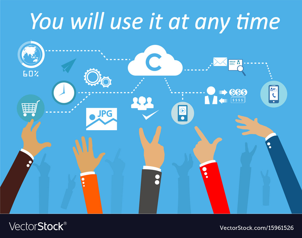 Technologysystem cloud vector image