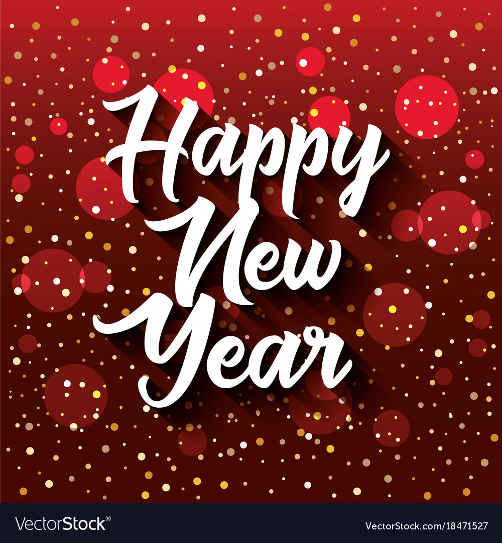 Hy New Year Postcard Royalty Free Vector Image