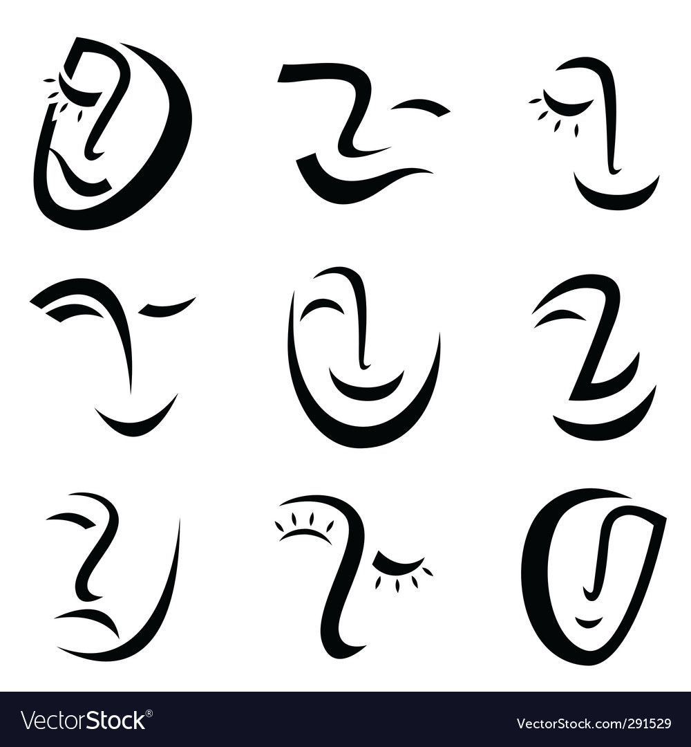 Face graphics vector image