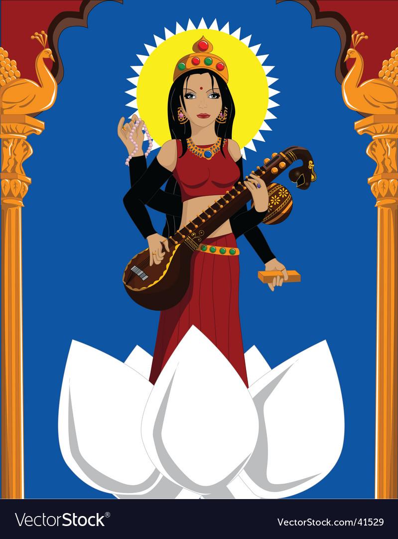 Goddess vector image
