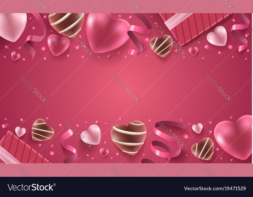 Happy valentines day background Royalty Free Vector Image